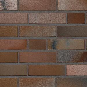 Немецкий клинкерный кирпич Roben ACCUM сине-коричневый с оттенком